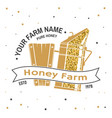 honey bee farm badge concept for print vector image vector image