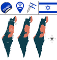 Israel map with named divisions vector image