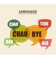 language poster design vector image vector image
