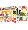 london web design text background word cloud vector image vector image