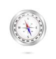 metal compass on white background vector image