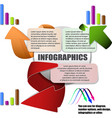 modern arrow style design with diagrams you can vector image
