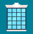 modern house window in flat design vector image