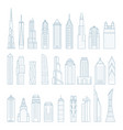 modern megalopolis skyscrapers and buildings vector image vector image