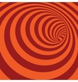 Orange Spiral Striped Abstract Tunnel Background vector image vector image