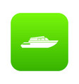 planing powerboat icon digital green vector image vector image