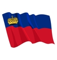 Political waving flag of liechtenstein