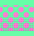 pop art background circles dots pink against vector image