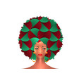portrait african american woman curly hair style vector image vector image