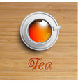 realistic cup of tea vector image