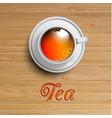 realistic cup of tea vector image vector image