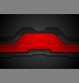 red and black abstract technology background vector image vector image