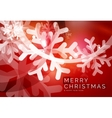 Red Christmas snowflakes abstract background vector image