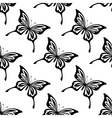 repeat seamless pattern butterflies vector image vector image