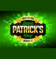 saint patricks day feast of patrick party vector image vector image