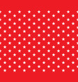 seamless background with white stars on red - vector image vector image