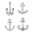 set anchors vector image