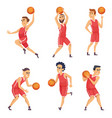 sport characters set of basketball vector image