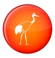 Stork icon flat style vector image vector image