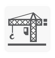 tower crane icon on white vector image