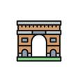 triumphal arch landmark paris france flat vector image vector image