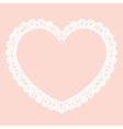 Valentine heart decorative ornamental frame banner vector image vector image