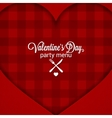 Valentines Day Dinner Party Menu Background vector image vector image