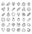 vegetable icon set 22 line style vector image vector image