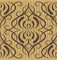 vintage floral damask seamless pattern striped vector image vector image