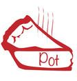 warm pot pie vector image vector image