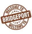 welcome to bridgeport vector image vector image