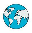world globe map vector image vector image