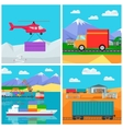 Worldwide Warehouse Logistics containers shipping vector image vector image