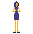 young woman with smartphone vector image
