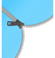 Zipper background blue vector image vector image