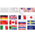 international transfer flags vector image