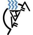 Stick figure climbing vector image