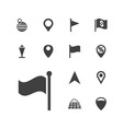 13 location icons vector image vector image