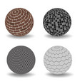 abstract 3d spheres set vector image vector image