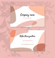 abstract modern business card modern background vector image vector image