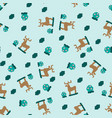 abstract seamless geometric pattern deer and vector image vector image