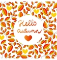 autumn seamless pattern with hand written vector image