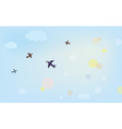 Banner with air in the sky vector image vector image
