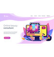 beauty blogger concept landing page vector image