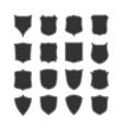 big set blank classic shields vector image vector image
