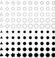 Black deformed polygon shape collection vector image vector image