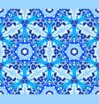 blue flower fractal pattern vector image vector image