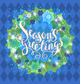 blue season wreath vector image vector image
