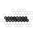 business analysis vector image