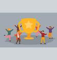 business team success achievement concept flat vector image vector image